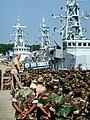 US Navy 021001-N-9281A-003 Rear Adm. Michael P. Nowakowski, Commander Amphibious Group Two (COMPHIBGRU 2), addresses Sailors.jpg