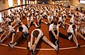 US Navy 030510-N-5862D-325 Recruits warm up before participating in the Captain's Cup sports competition.jpg