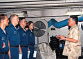 US Navy 040820-N-8704K-003 Master Chief Petty Officer of the Navy (MCPON) Terry Scott speaks to chief petty officer selectees aboard the aircraft carrier USS John F. Kennedy (CV 67).jpg
