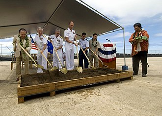 Pacific Warfighting Center - Representatives of the U.S. Senate, U.S. Pacific Command (PACOM), Navy Region Hawaii and Nan, Inc., dba Ocean House Builders break ground for the Pacific Warfighting Center.