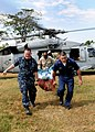 US Navy 100131-N-6676S-003 Sailors ransport a patient from the Military Sealift Command hospital ship USNS Comfort (T-AH 20) to the Killick Haitian Coast Guard Base medical clinic.jpg
