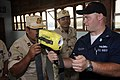 US Navy 100217-N-8335D-028 Damage Controlman 2nd Class Titan Brockopp shows a Royal Cambodian Navy officer how to use a navy infrared thermal imager.jpg