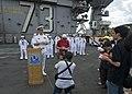 US Navy 101002-N-6720T-005 Capt. David A. Lausman, commanding officer of the aircraft carrier USS George Washington (CVN 73),.jpg