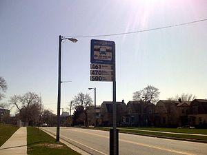 Markers for UTA buses in Salt Lake City