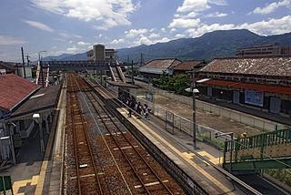 Uchita Station railway station in Kinokawa, Wakayama prefecture, Japan
