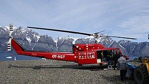 Ukkusissat Heliport - Ukkusissat Heliport: Air Greenland Bell 212