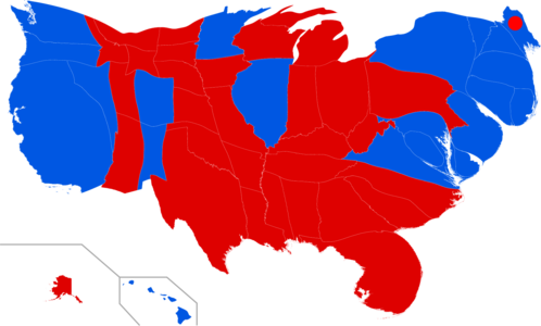 United States Presidential Election Wikipedia - Map of us without electoral college 2016
