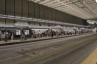 University Street station - The platform at University Street station, after its renovation for light rail