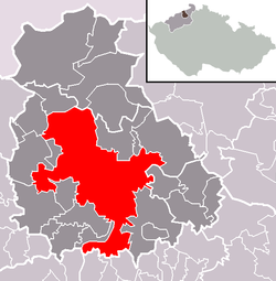 Location of Ústí nad Labem