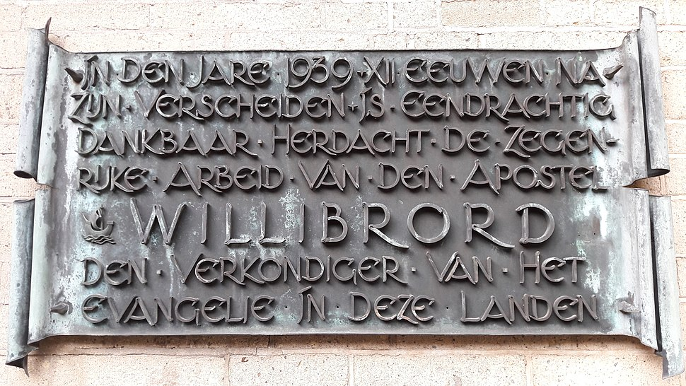 Utrecht comm plaque Willibrord