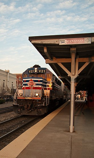 Virginia Railway Express - Image: VRE in Manassas