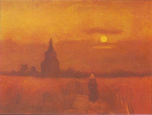 Van Gogh - Der alte Friedhofsturm in Nuenen2