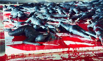 Vanessa Beecroft - VB61, Still Death! Darfur Still Deaf? (2007) at the 52nd Venice Biennale