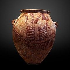 Vase with ship-E 11427