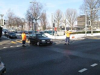 Crossing guard - Traffic cadets in Switzerland