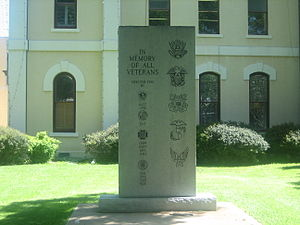 Bastrop County, Texas - Veterans Memorial at Bastrop County Courthouse