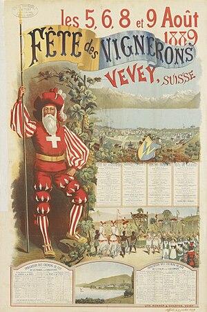 Fête des Vignerons - Fête des Vignerons poster, 1889
