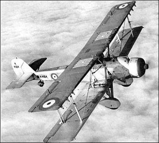 Vickers Vildebeest light bomber aircraft