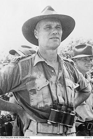 Victor Windeyer - Informal portrait of Brigadier William John Victor Windeyer in New Guinea, January 1944