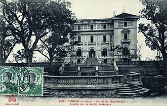 Tonkin (French protectorate) - Image: Viet Nam Tonkin Hanoi Palais du Gouverneur Façade sur le jardin