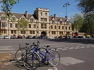 St John's College, Oxford - View across St Giles' to St John's