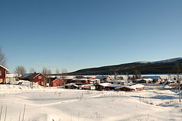 View from Lofsdalen village towards the lake.jpg