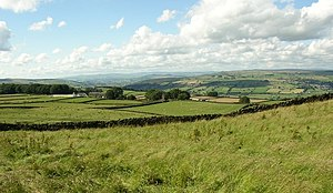 Airedale - View of Airedale Looking towards north west towards the Malham Hills from Keighley
