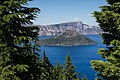 View of Wizard Island - Crater Lake National Park (22617559061).jpg