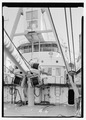 View of bridge and hoist. - U.S. Coast Guard Cutter FIR, Puget Sound Area, Seattle, King County, WA HAER WA-167-5.tif