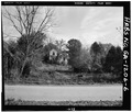 View of house from rear - West-Jackson House, 111 North Washington Street, Clarkesville, Habersham County, GA HABS GA,69-CLAVI,1-6.tif