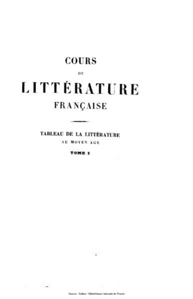 File:Villemain - Cours de littérature française, tome 1.djvu