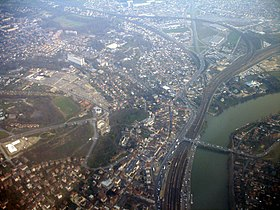 Vue aérienne de Villeneuve-Saint-Georges