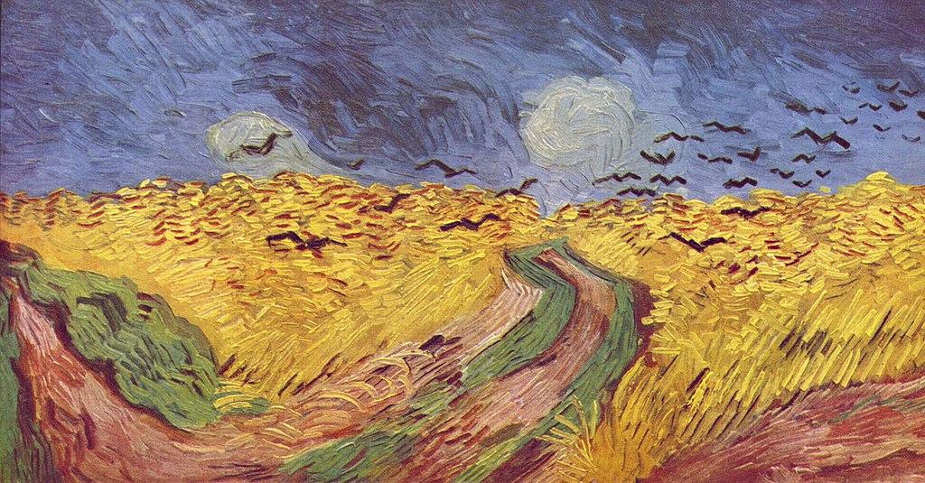 Champs de maïs avec des corbeaux de van Gogh (1890).