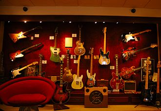 Vintage musical equipment - A collection of vintage guitars