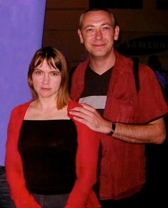 Gareth Jones (presenter) - Jones with partner Violet Berlin in 2003