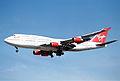 Virgin Atlantic Boeing 747-4Q8; G-VHOT@LHR;04.04.1997 (5491897350).jpg