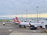 Virgin Australia aircraft at Sydney Airport Virgin Australia Terminal 2.jpg
