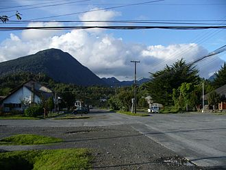 Chaitén - The town of Chaitén in 2007