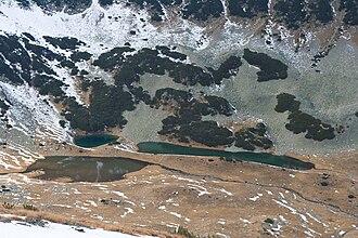 Vlahini Lakes - The three lower lakes.