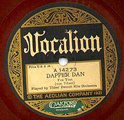 1921 Vocalion Label