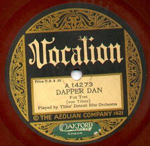 Vocalion Records - 1921 Vocalion label