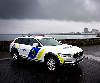 Icelandic Police - Volvo V90 Cross Country using the 2018 onwards livery