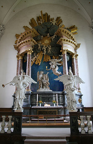 Church of Our Saviour, Copenhagen - Tessin's altarpiece