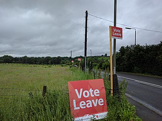 Lawn sign - Vote Leave signs during 2016 UK referendum on EU membership