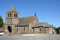 Vue extérieure de l'église Saint-Léger de Cheylade DSC 2363.JPG