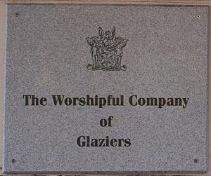 Worshipful Company of Glaziers and Painters of Glass - Plaque