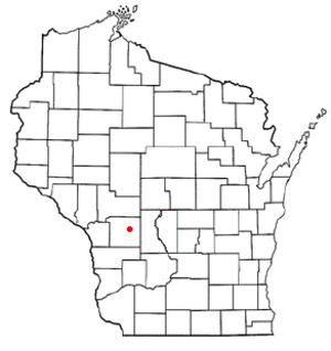 Tomah (town), Wisconsin - Image: WI Map doton Tomah town
