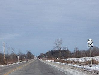 Wisconsin Highway 156 - WIS 156 in rural Shawano County, Wisconsin