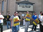 WI Union activists protest outside McCain Town Hall in Racine, July 31, 2008 (2722999852).jpg