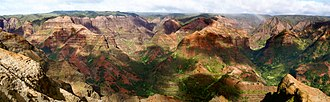Waimea Canyon State Park - Image: Waimea Canyon Panorama (bryce edwards)